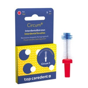 Top Caredent Circum-5 Interdentalbürste 1,5 mm CDB-5 (rot)