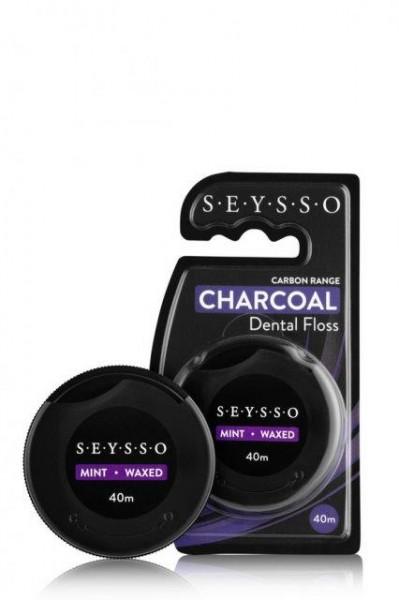 SEYSSO Carbon Zahnseide mit Aktivkohle