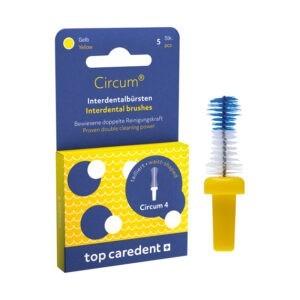 Top Caredent Circum-4 Interdentalbürste 1,3 mm CDB-4 (gelb)