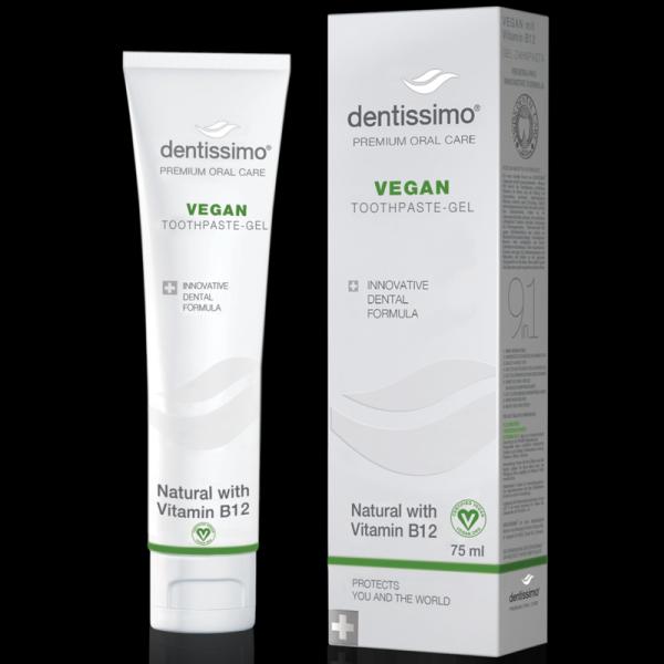 Dentissimo Gel-Zahnpasta Vegan mit Vitamin B12