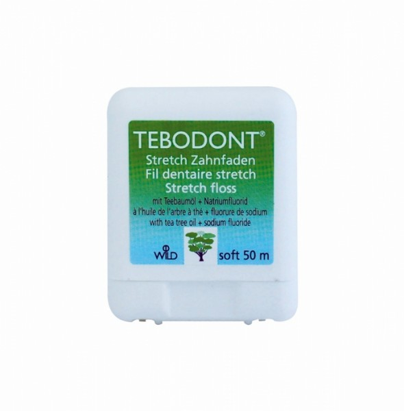 TEBODONT Stretchfloss 50m Zahnseide mit Teebaumöl