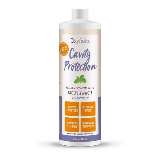 Oxyfresh Cavity Protection Mundwasser fresh-mint Mundwasser mit Oxygene und Fluorid (473ml)